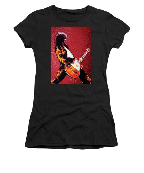 Jimmy Page  Women's T-Shirt (Athletic Fit)