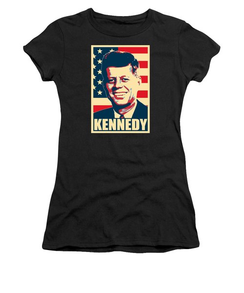 John F Kennedy American Propaganda Poster Art Women's T-Shirt