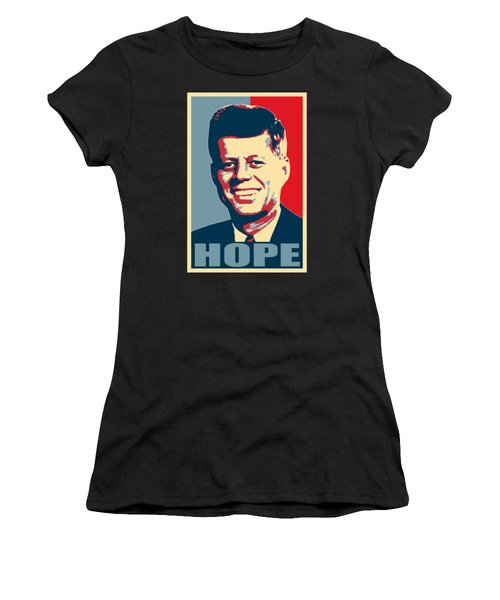 John F Kennedy Hope Poster Art Women's T-Shirt