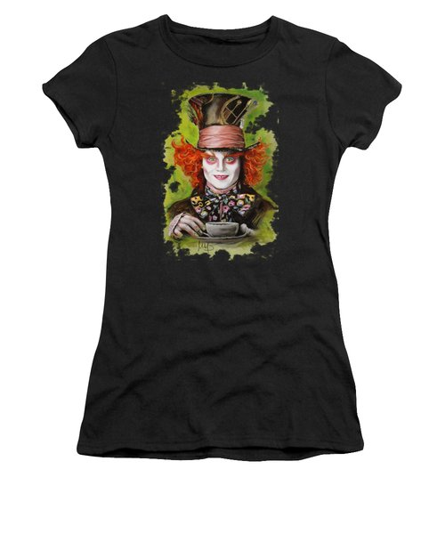 Johnny Depp As Mad Hatter Women's T-Shirt (Athletic Fit)