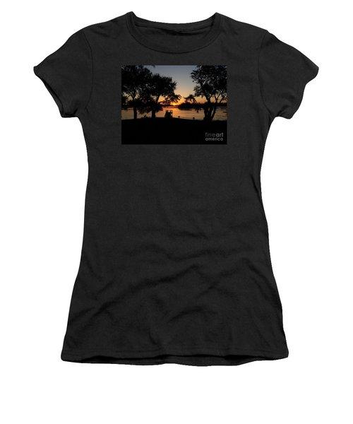 Women's T-Shirt featuring the photograph Johns Island Sunset by Robert Knight