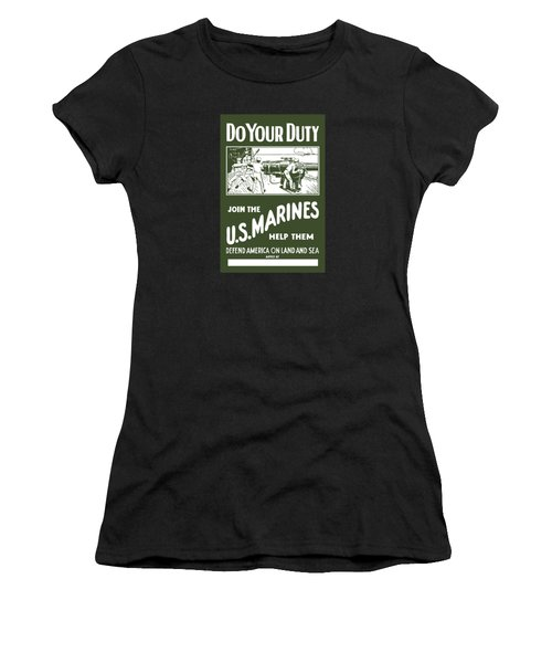 Join The Us Marines Women's T-Shirt