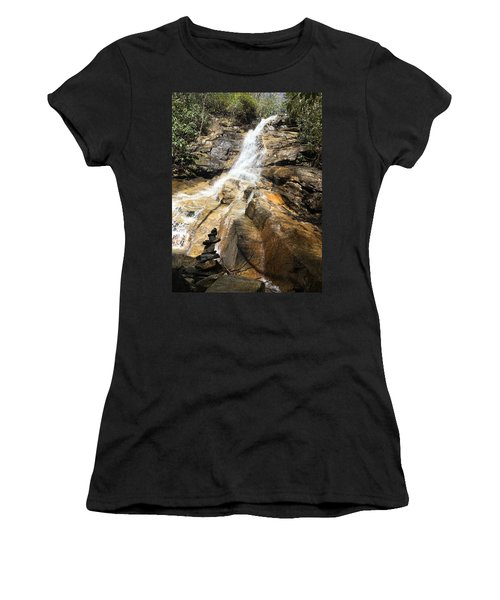 Jones Gap Falls And Monument Women's T-Shirt (Athletic Fit)