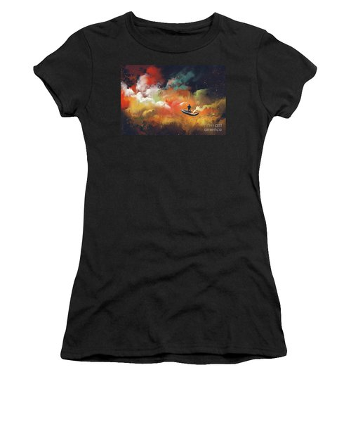 Journey To Outer Space Women's T-Shirt (Athletic Fit)