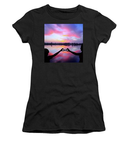 Women's T-Shirt (Athletic Fit) featuring the photograph Joy - Digital Art by Ericamaxine Price