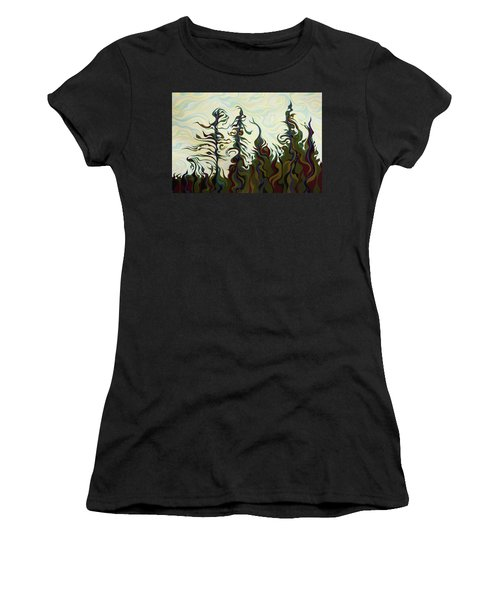 Joyful Pines, Whispering Lines Women's T-Shirt
