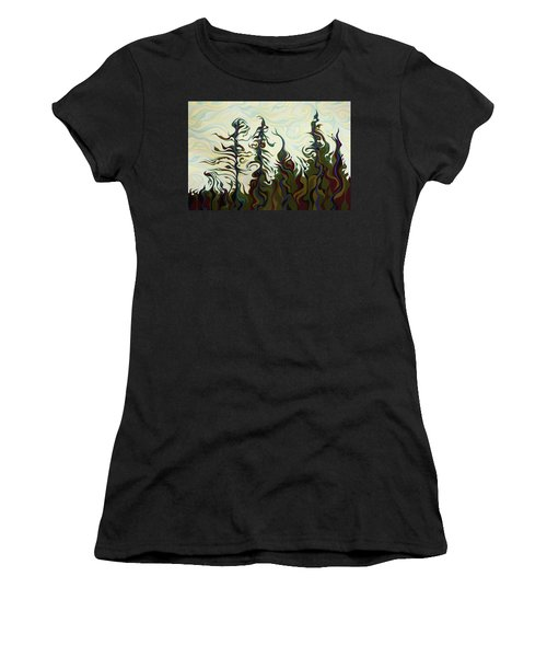 Joyful Pines, Whispering Lines Women's T-Shirt (Athletic Fit)