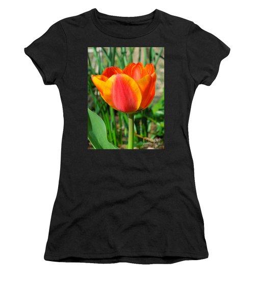 Joyful Tulip Women's T-Shirt (Athletic Fit)