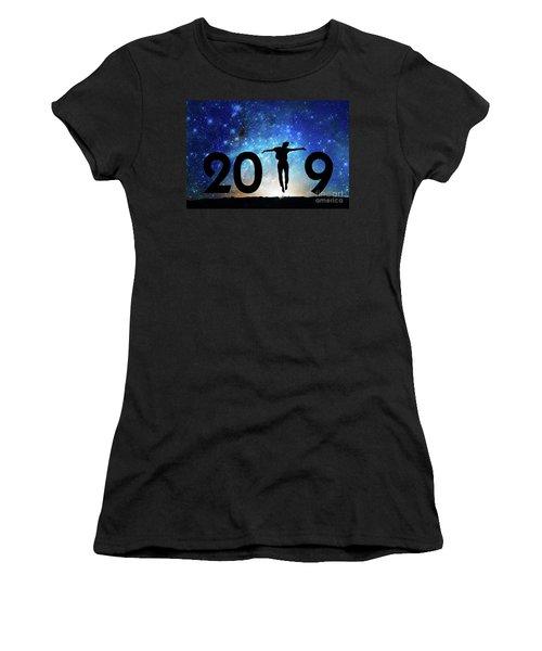 Jump New Year Card Women's T-Shirt
