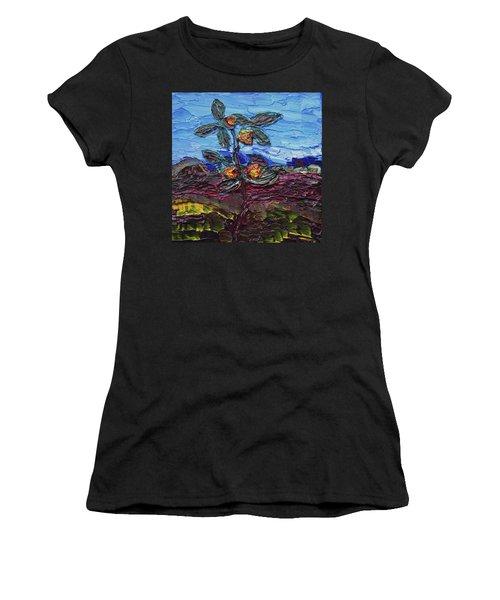June Flower Women's T-Shirt (Athletic Fit)