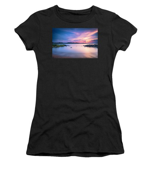 June Sunset On The River Women's T-Shirt (Athletic Fit)