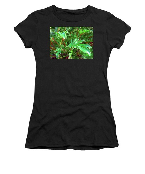 Jungle Greenery Women's T-Shirt (Athletic Fit)
