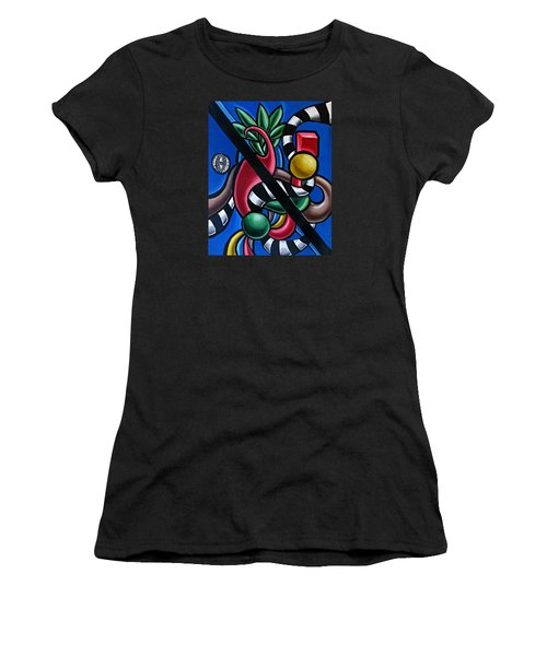 Jungle Stripes 1 - Abstract Painting Women's T-Shirt (Athletic Fit)
