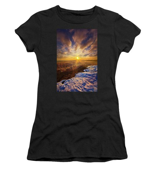 Women's T-Shirt (Junior Cut) featuring the photograph Just A Bit More To Go by Phil Koch