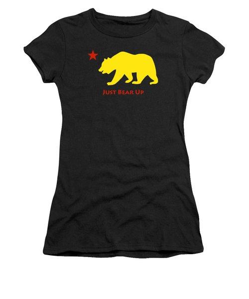 Just Bear Up Women's T-Shirt (Junior Cut) by Jim Pavelle