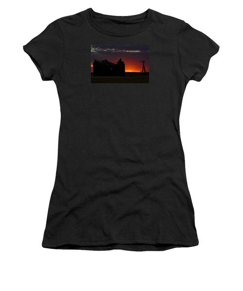 Women's T-Shirt (Junior Cut) featuring the photograph Just Before Sunrise by Clarice  Lakota