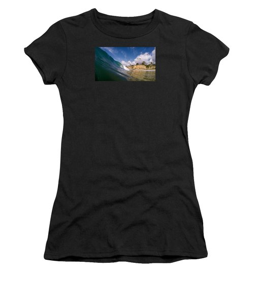 Just Me And The Waves Women's T-Shirt (Athletic Fit)