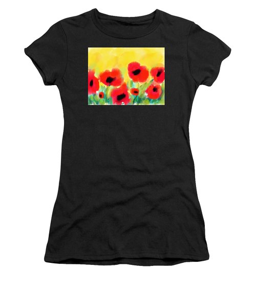 Just Poppies Women's T-Shirt (Athletic Fit)
