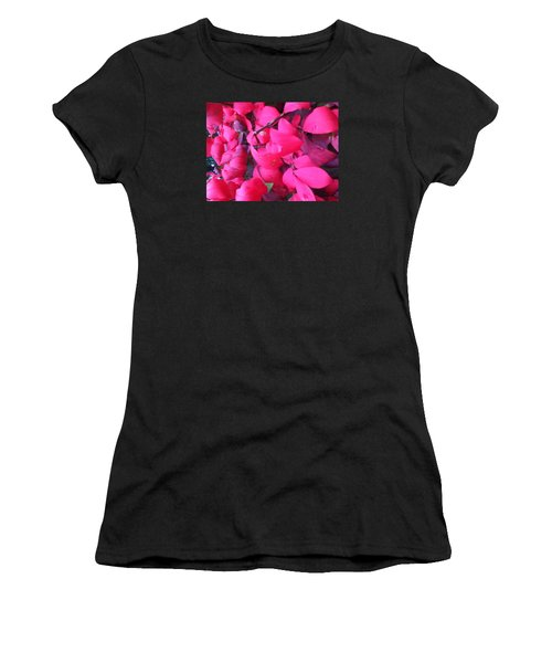 Just Red/pink Women's T-Shirt (Athletic Fit)