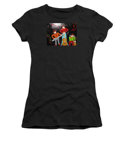 Women's T-Shirt (Junior Cut) featuring the painting Just Rippin It by Sharyn Winters