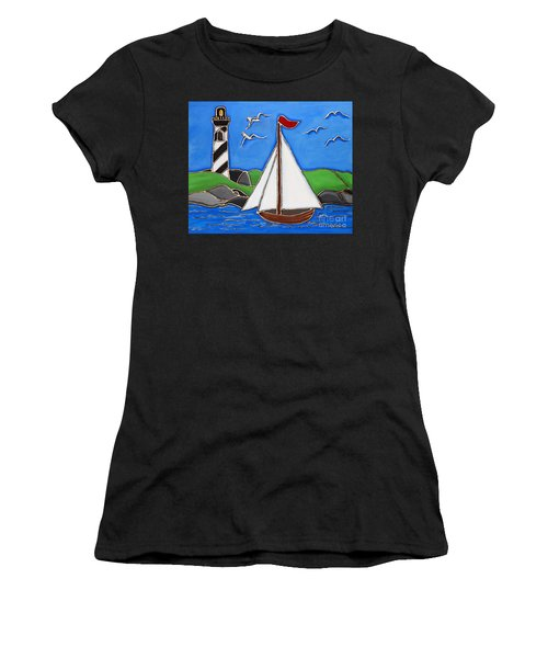 Just Sailing By Women's T-Shirt (Athletic Fit)