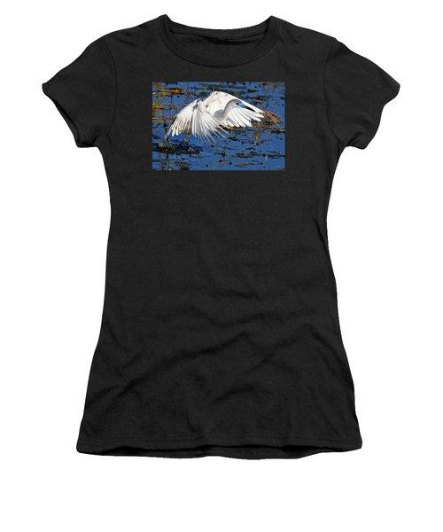 Juvenile Little Blue Heron Women's T-Shirt