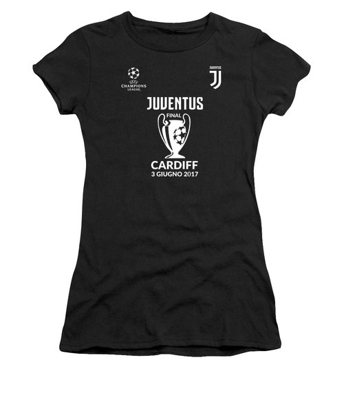 Juventus Final Champions League Cardiff 2017 Women's T-Shirt (Athletic Fit)