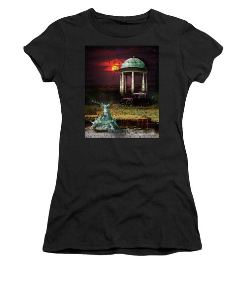 Women's T-Shirt featuring the digital art Juxtaposition by Richard Ricci