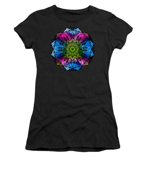 Kaleidoscope - Colorful Women's T-Shirt (Athletic Fit)