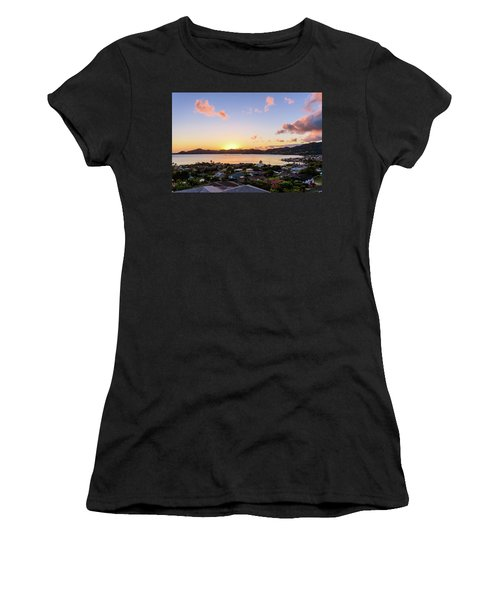 Kaneohe Bay Sunrise 1 Women's T-Shirt