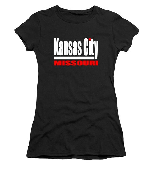 Kansas City Missouri - Tshirt Design Women's T-Shirt (Junior Cut) by Art America Gallery Peter Potter