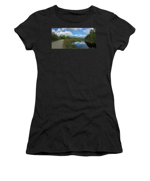 Katahdin In The Clouds Women's T-Shirt