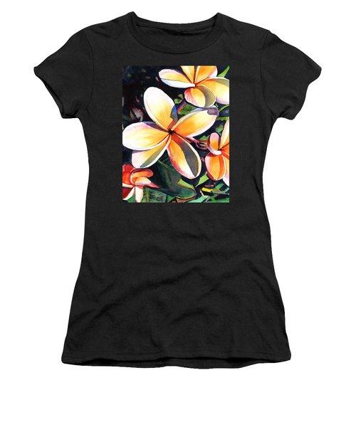 Kauai Rainbow Plumeria Women's T-Shirt