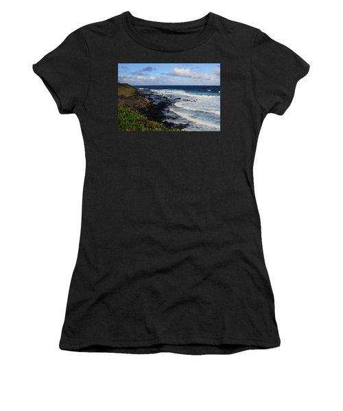 Kauai Shore 1 Women's T-Shirt (Athletic Fit)