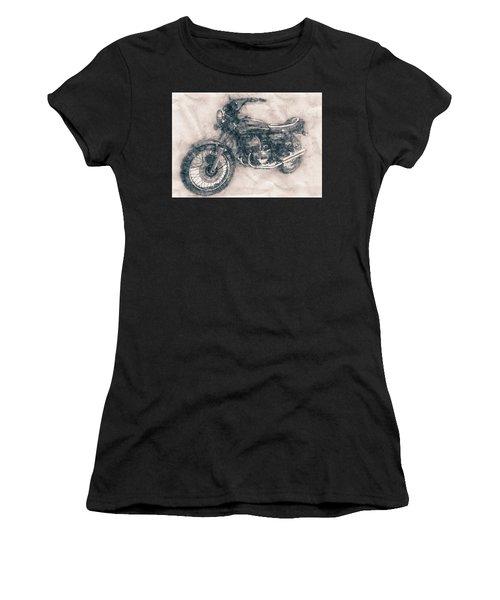 Kawasaki Triple - Kawasaki Motorcycles - 1968 - Motorcycle Poster - Automotive Art Women's T-Shirt