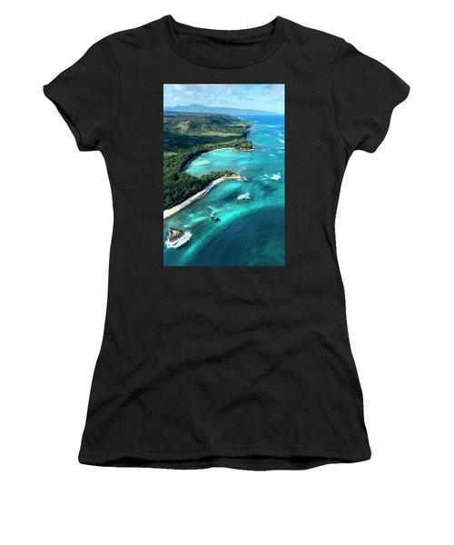 Kawela Bay, Looking West Women's T-Shirt (Athletic Fit)