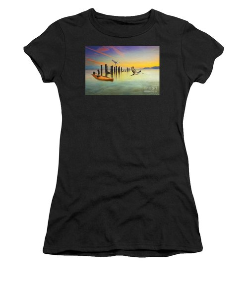 Kayak And Cranes Women's T-Shirt
