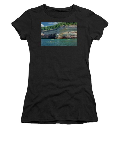 Kayaking The Pictured Rocks Women's T-Shirt (Athletic Fit)