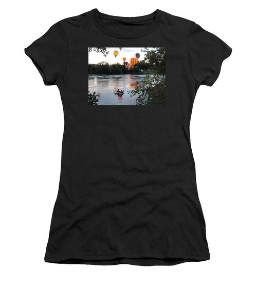Kayaks And Balloons Women's T-Shirt (Athletic Fit)