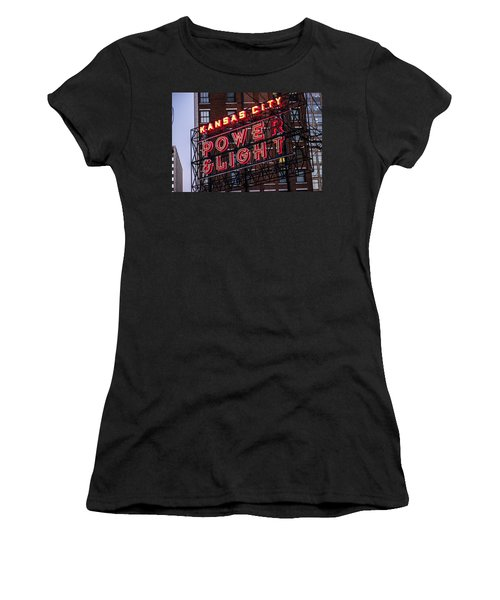 Women's T-Shirt featuring the photograph Kc Power And Light by Jim Mathis