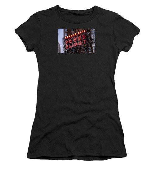 Kc Power And Light Women's T-Shirt (Athletic Fit)