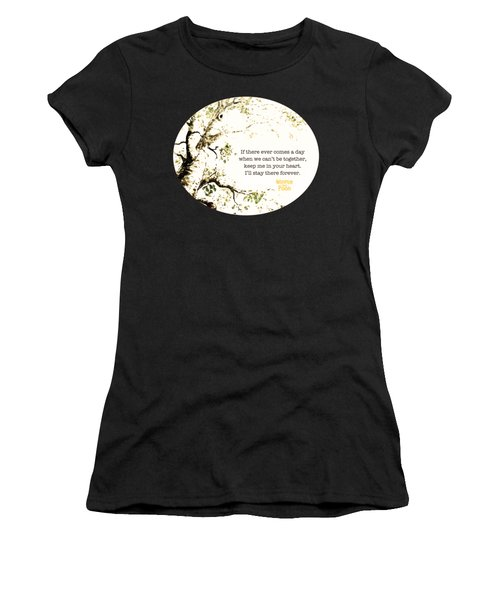 Keep Me In Your Heart Women's T-Shirt (Athletic Fit)