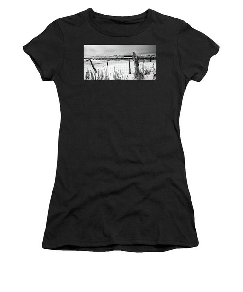 Keeping Watch Black And White Women's T-Shirt