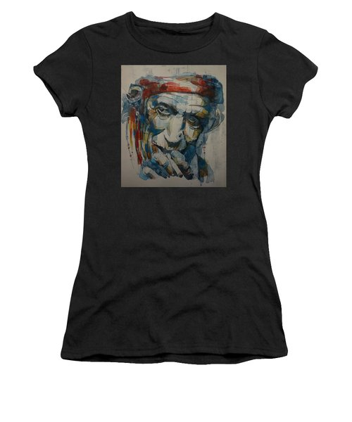 Keith Richards Art Women's T-Shirt (Athletic Fit)