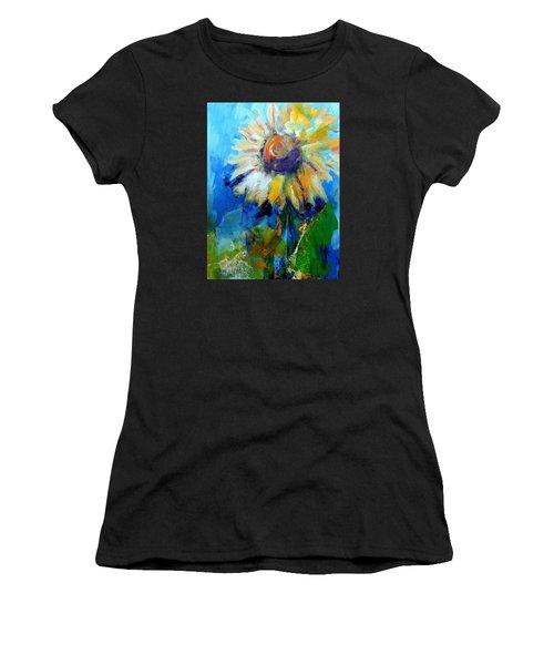 Kellie's Sunflower Women's T-Shirt (Athletic Fit)