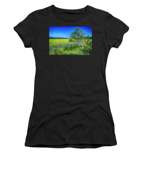 Kent Mitchell Nature Trail, Bald Head Island Women's T-Shirt (Athletic Fit)