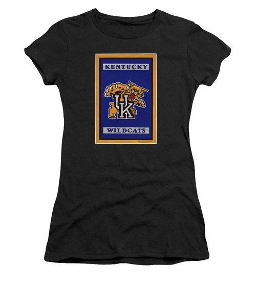 Ky Wildcats Logo T-shirt Women's T-Shirt (Junior Cut) by Herb Strobino