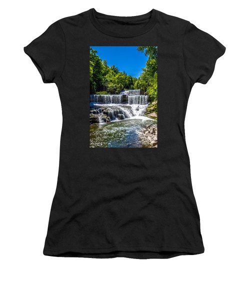 Keuka Outlet Waterfall Women's T-Shirt (Athletic Fit)