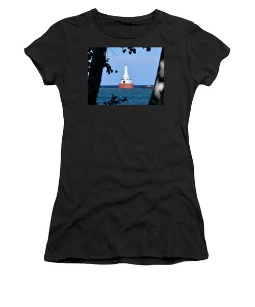 Keweenaw Waterway Lighthouse. Women's T-Shirt (Junior Cut) by Keith Stokes