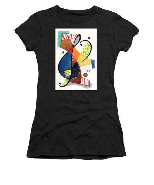 Keys And Clef Women's T-Shirt (Athletic Fit)